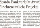 Sparda-Bank verleiht Award