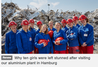 Why ten girls were left stunned after visiting our aluminium plant in Hamburg